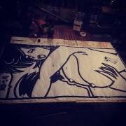 Peinture dans la chaleur de la nuit