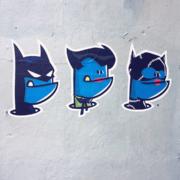Monstre bleu Batman/Joker/Catwoman
